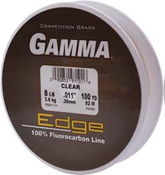 Gamma edge flurocarbon fishing line 14 100 yard filler for Gamma fishing line